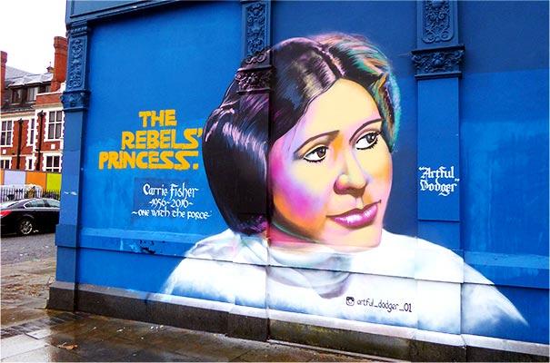 Artful Dodger - Princess Leia - Mural