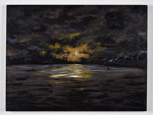 Alex Pearce - Moonlight over Battersea