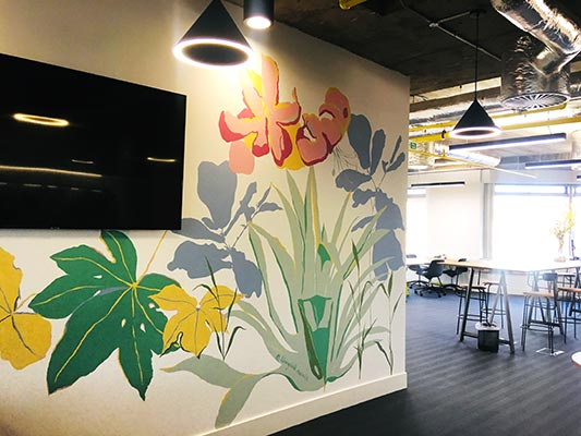 Living Wall Murals - Huddle Mural - detail