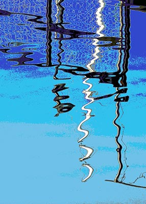 Lucy Cooper - Greenland Dock Reflection 2